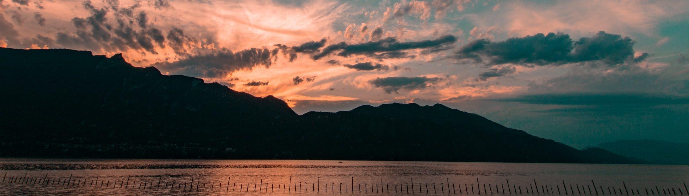 coucher de soleil séminaire Aix les Bains